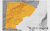 Political 3D Map of Toledo, desaturated