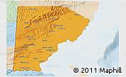 Political 3D Map of Toledo, lighten