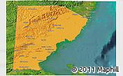 Political 3D Map of Toledo, satellite outside