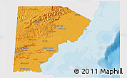 Political 3D Map of Toledo, single color outside
