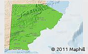 Political Shades 3D Map of Toledo, lighten