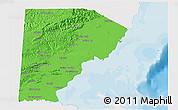 Political Shades 3D Map of Toledo, single color outside