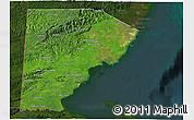 Satellite 3D Map of Toledo, darken