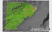 Satellite 3D Map of Toledo, desaturated