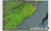 Satellite 3D Map of Toledo, semi-desaturated