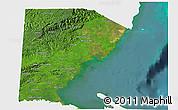 Satellite 3D Map of Toledo, single color outside