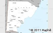 Gray Simple Map of Toledo