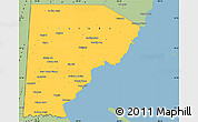Savanna Style Simple Map of Toledo