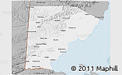 Gray 3D Map of Toledo