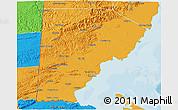 Political 3D Map of Toledo