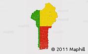 Flag 3D Map of Benin