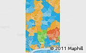 Political 3D Map of Benin
