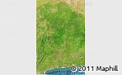 Satellite 3D Map of Benin