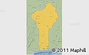 Savanna Style 3D Map of Benin