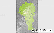 Physical 3D Map of Atakora, desaturated