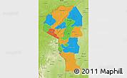 Political 3D Map of Atakora, physical outside