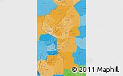 Political Shades 3D Map of Atakora
