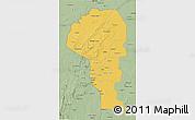 Savanna Style 3D Map of Atakora
