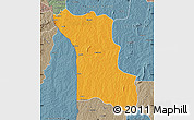 Political Map of Bassila, semi-desaturated
