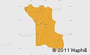 Political Map of Bassila, single color outside