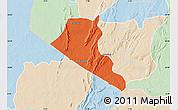 Political Map of Boukoumbe, lighten
