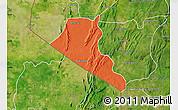 Political Map of Boukoumbe, satellite outside