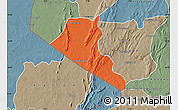 Political Map of Boukoumbe, semi-desaturated