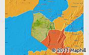 Satellite Map of Cobli, political outside