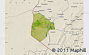 Satellite Map of Cobli, shaded relief outside