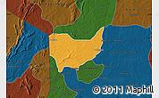 Political Map of Copargo, darken