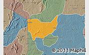 Political Map of Copargo, semi-desaturated