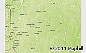 Physical 3D Map of Djougou Rural