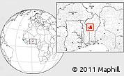 Blank Location Map of Djougou Rural