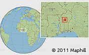 Savanna Style Location Map of Djougou Rural