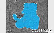 Political Map of Djougou Rural, darken, desaturated