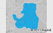 Political Map of Djougou Rural, lighten, desaturated