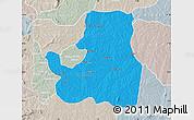 Political Map of Djougou Rural, lighten, semi-desaturated