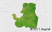 Satellite Map of Djougou Rural, cropped outside