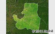Satellite Map of Djougou Rural, darken