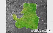 Satellite Map of Djougou Rural, desaturated