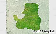 Satellite Map of Djougou Rural, lighten