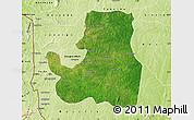 Satellite Map of Djougou Rural, physical outside