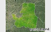 Satellite Map of Djougou Rural, semi-desaturated