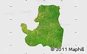 Satellite Map of Djougou Rural, single color outside