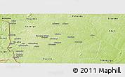 Physical Panoramic Map of Djougou Rural