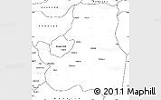 Blank Simple Map of Djougou Rural