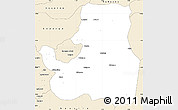 Classic Style Simple Map of Djougou Rural