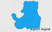Political Simple Map of Djougou Rural, cropped outside