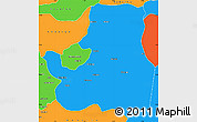 Political Simple Map of Djougou Rural
