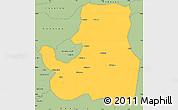 Savanna Style Simple Map of Djougou Rural